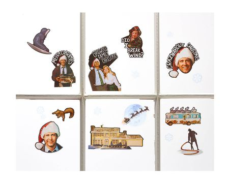 National Lampoon's Christmas Vacation Window Decorations, 17-Count