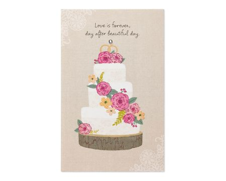 Wedding engagement paper cards shop american greetings love is forever wedding card m4hsunfo