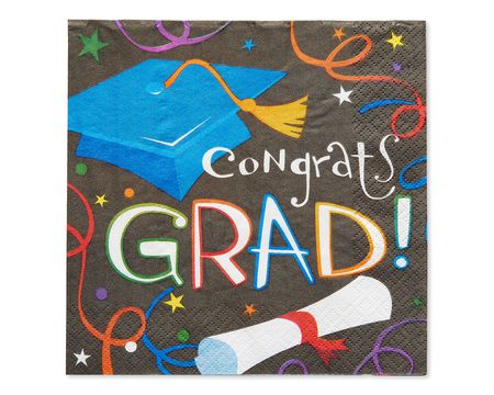 congrats grad lunch napkins 16 ct