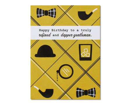 Dapper Gentleman Birthday Card