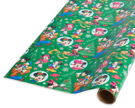 Christmas mickey mouse disney gift wrap american greetings christmas wrapping paper mickey mouse and friends 20 total sq ft m4hsunfo