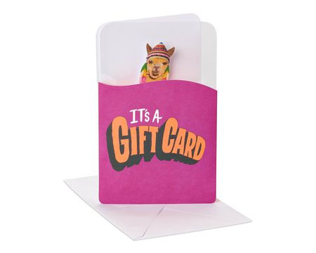 Funny Llama Gift Card Holder Birthday