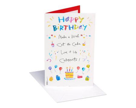 Kathy Davis Cake and Presents Birthday Card