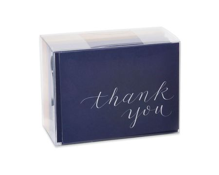 Navy Blue Thank You Cards and Envelopes, 50-Count