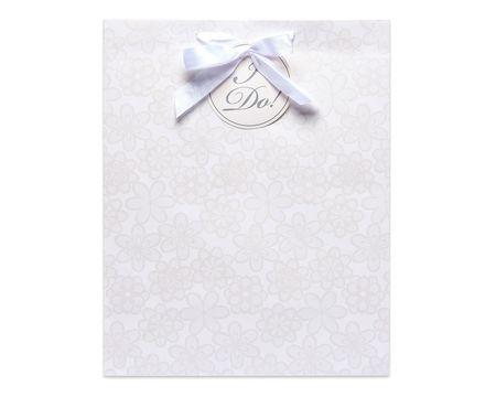 large I do lace wedding gift bag