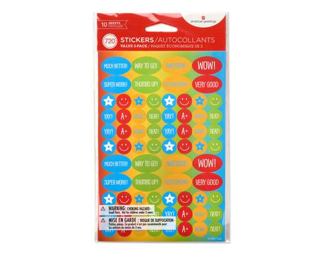 Teacher Variety Stickers, 720 Count