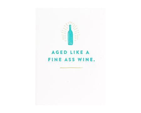 Fine Wine Birthday Card