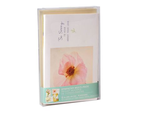 Assorted Sympathy Cards and Envelopes, 12-Count