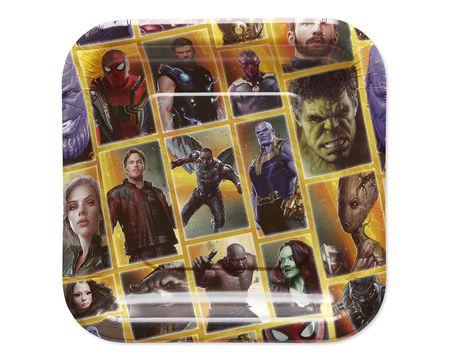 Birthday Invitation Blank Spiderman Avengers Infinity War Paper Dessert Plates 8 Count