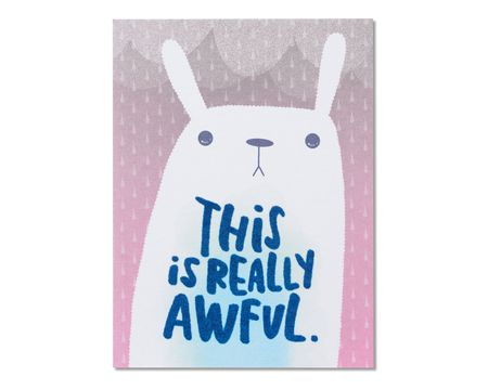 Funny paper thinking of you greeting cards for anyone shop really awful care and concern card m4hsunfo