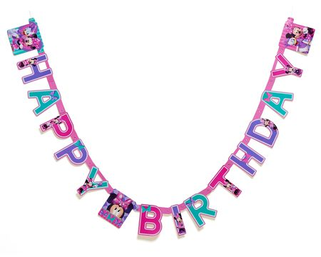 minnie mouse bow-tique birthday banner