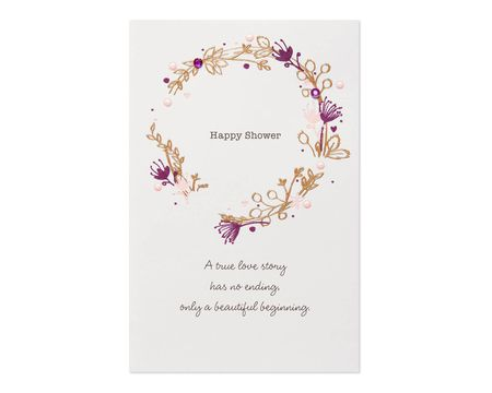 Paper wedding engagement greeting cards shop american greetings wreath bridal shower card m4hsunfo