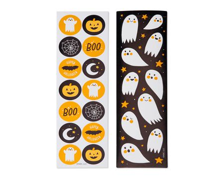 Festive Halloween Sticker Sheets, 124-Count