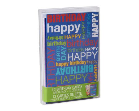 Stationery sets shop american greetings variety pack birthday cards and envelopes 12 count m4hsunfo