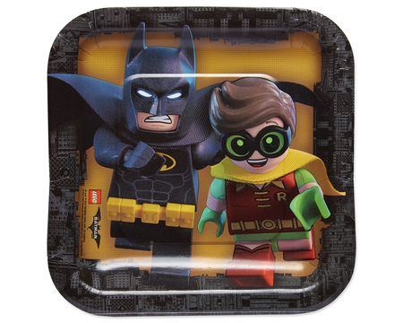 lego batman™ square dessert plates 8-Count  sc 1 st  American Greetings & lego batman Party tableware - Shop American Greetings
