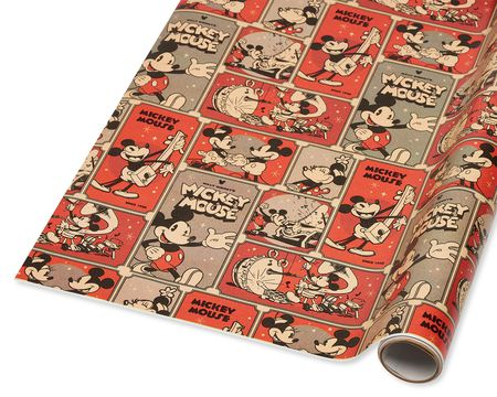 Mickey and Minnie Comic Christmas Wrapping Paper, 40 Total Sq. Ft.