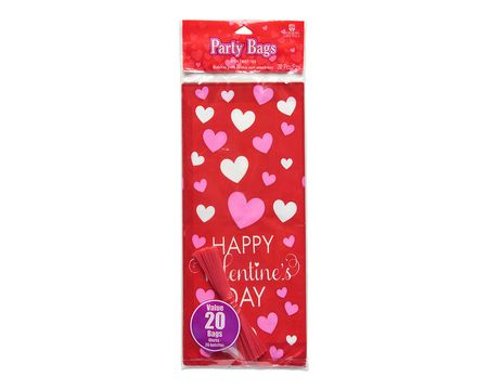 valentine's day treat bags 20 ct
