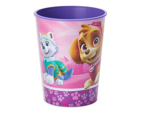 paw patrol pink plastic stadium cup