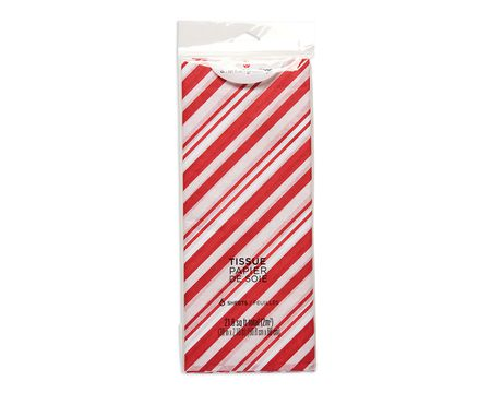 candy cane christmas tissue paper 6 sheets