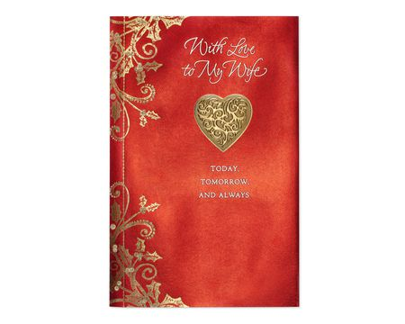Christmas paper cards for wife shop american greetings today tomorrow always christmas card for wife m4hsunfo