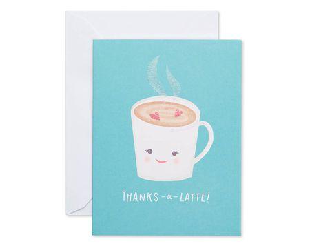THANK YOU cat card blue envelope Single