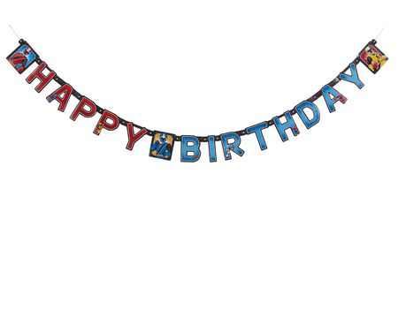 Power Rangers Ninja Steel Birthday Party Banner, Party Supplies