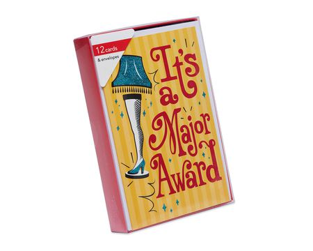 A Christmas Story Leg Lamp Boxed Cards and White Envelopes, 12-Count