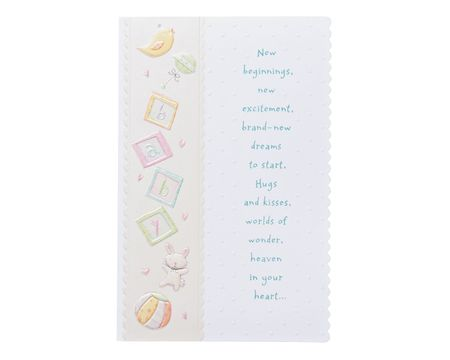 warm wishes baby congratulations card