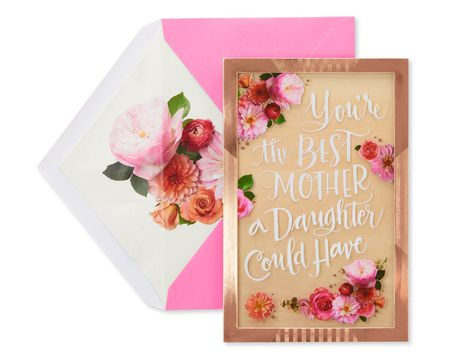 Floral Mothers Day Card From Daughter