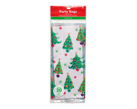 christmas tree cello treat bags 20 ct