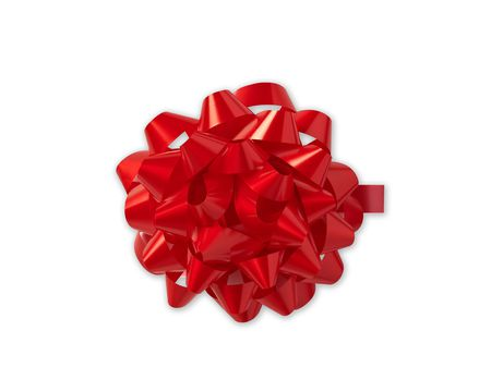 red ribbon gift bow