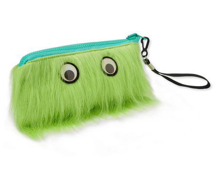 Warm Fuzzy Green Zippered Pouch