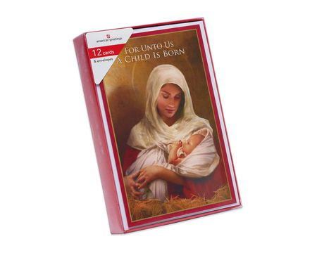 Madonna and Child Christmas Boxed Cards and White Envelopes, 12-Count