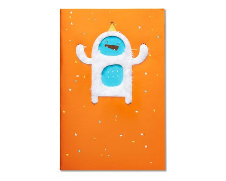 funny yeti birthday card