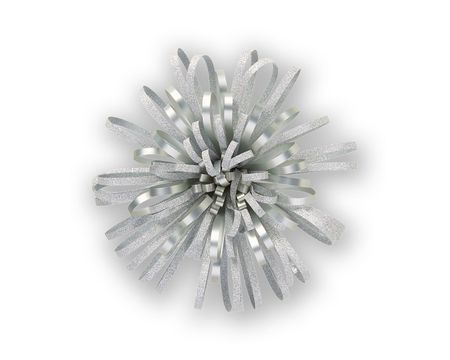 Silver Sparkle Fountain Bow
