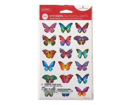 Butterflies and Flowers Stickers, 165-Count