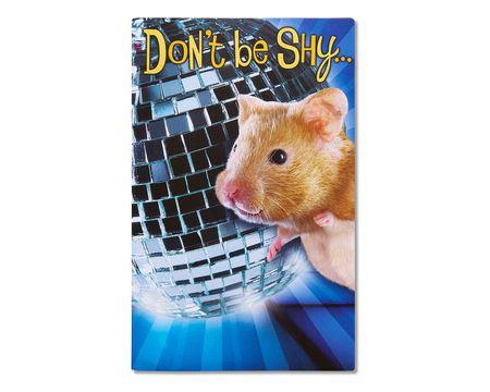 funny hamster birthday card