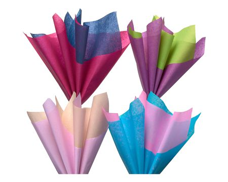 bright summer multi-colored tissue paper 40 sheets