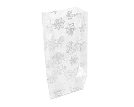 Snowflake Plastic Treat Bags, 20-Count