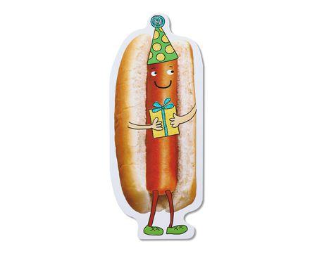 funny hot dog birthday card