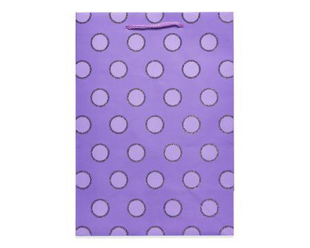 Birthday gift wrap american greetings small purple glitter dots gift bag m4hsunfo