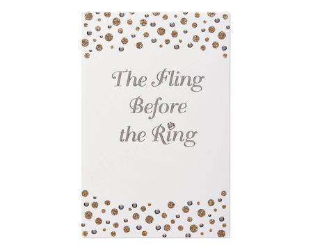 Paper bridal shower greeting cards for bride shop american greetings fling before the ring bridal shower card m4hsunfo