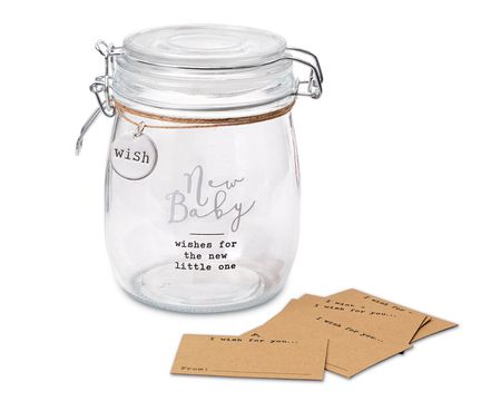 Mud Pie New Baby Wish Jar Set