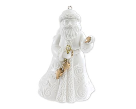 Porcelain Santa Ornament