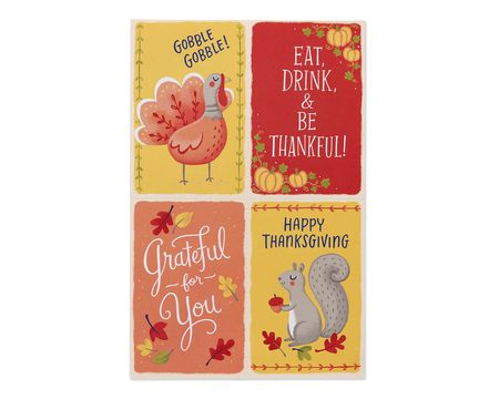 Mini Thanksgiving Cards, 24-Count