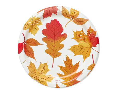 Autumn Days Paper Dessert Plates, 12-Count
