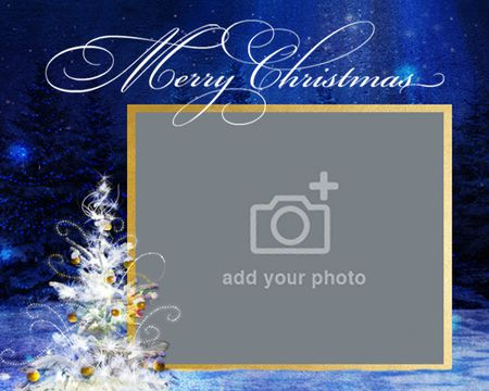 Christmas Joys and Blessings (Add-a-Photo)