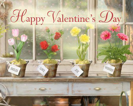 Valentine's Day Garden Ecard (Interactive)