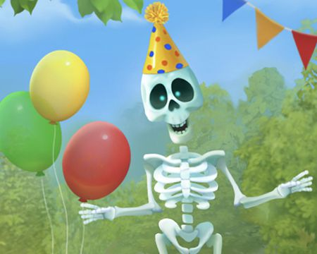 Talking Skeleton Birthday Ecard (Personalize)