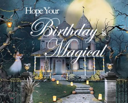 Birthday Moon Magic Ecard